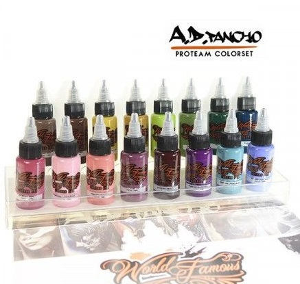 World Famous Ink - A.D. Pancho Pro Team Colorset 16x30ml (alv0% 159,68€)