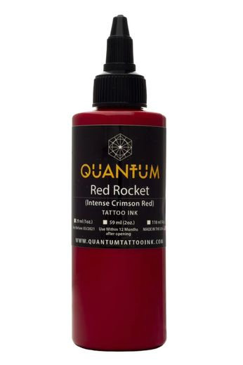 Quantum Tattoo Ink Red Rocket 20ml  (alv0% hinta 8,79€)
