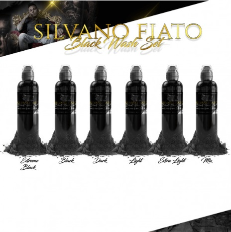 World Famous Ink, Silvano Fiato Black Wash Set 6*30ml